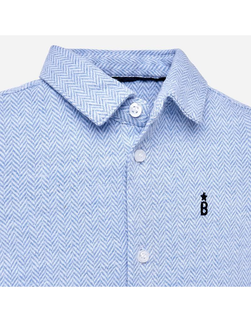 Mayoral Mayoral| Jersey Button-Up Dress Shirt
