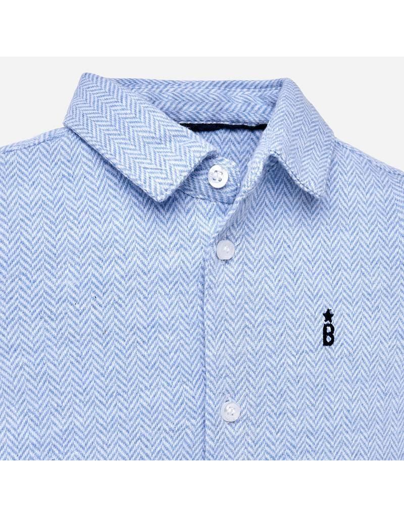 Mayoral Mayoral| Jersey Button-Up Dress Shirt