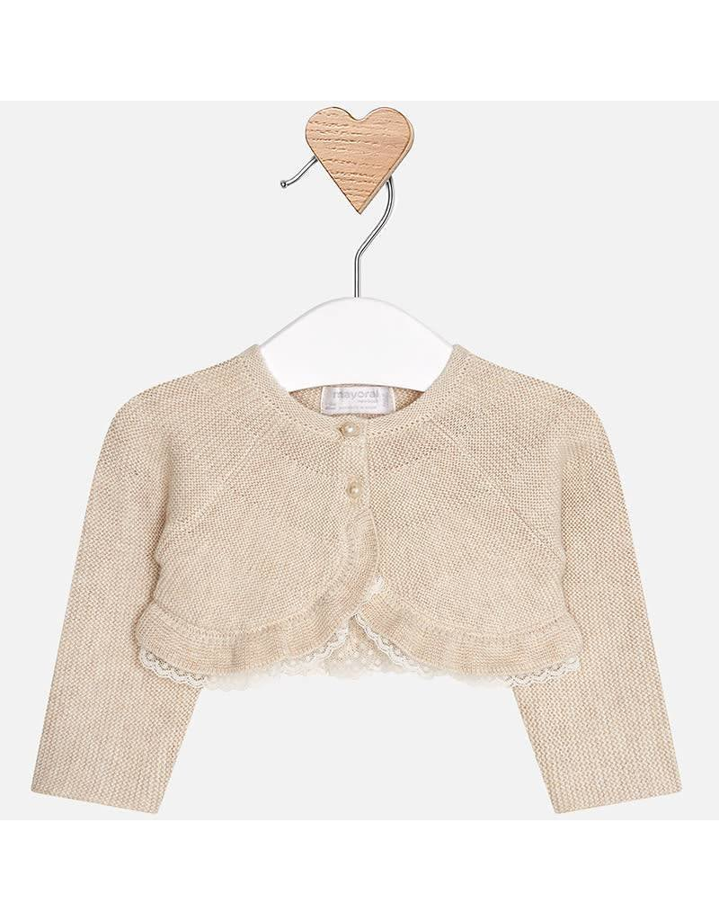 Mayoral Mayoral | Lace Trimmed Baby Cardigan