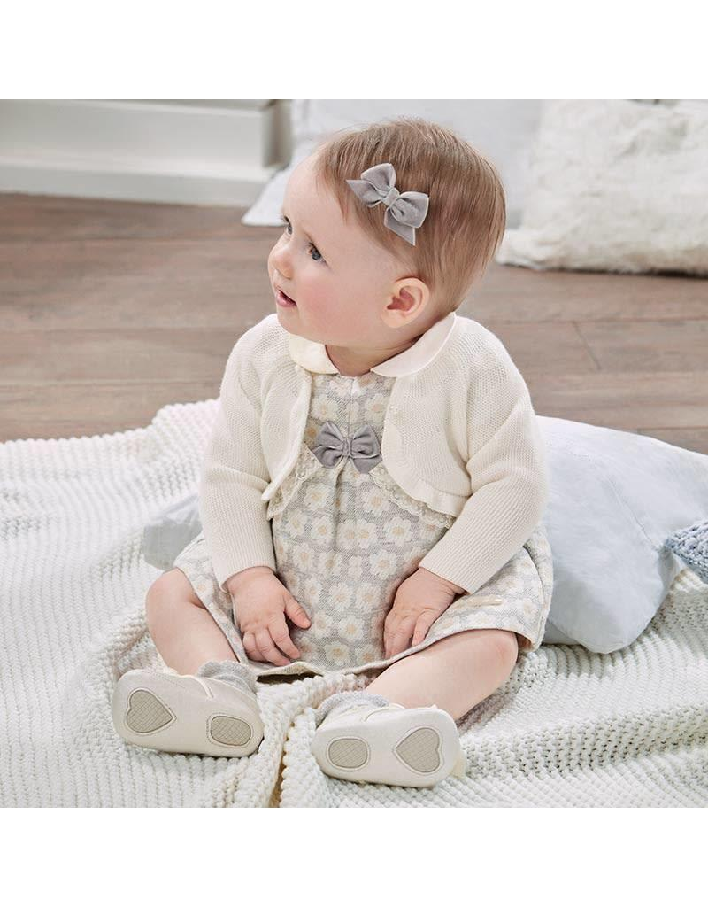 Mayoral Mayoral | Jaquard Floral Baby Dress