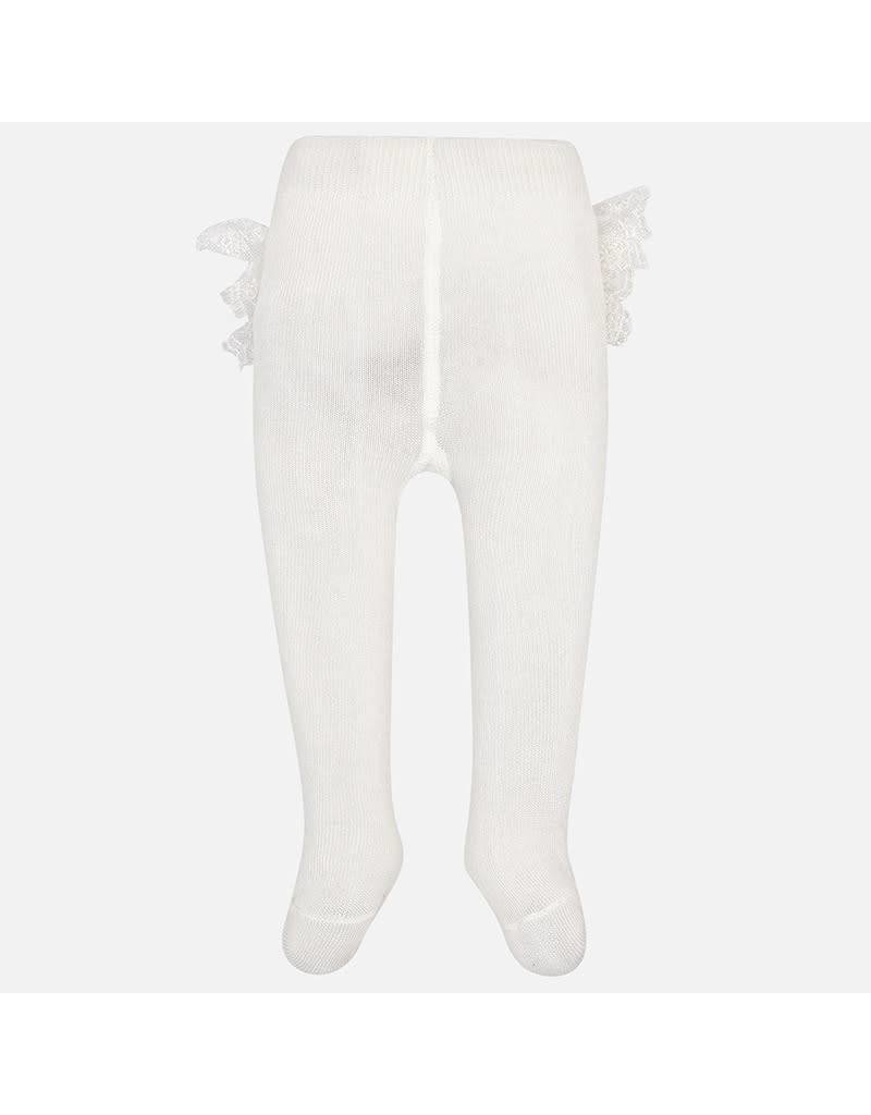 Mayoral Mayoral | Lace Trim Baby Tights