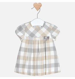 Mayoral Mayoral | Pleats & Plaid Baby Dress
