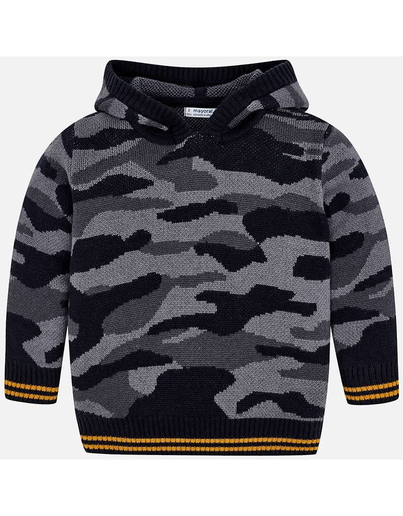 Mayoral Mayoral|Camouflage Hooded Sweater