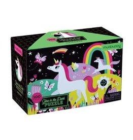 100 Piece Glow in the Dark Puzzle | Unicorns by mudpuppy