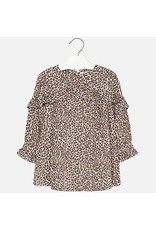 Mayoral Mayoral | Leopard Print Ruffle Dress
