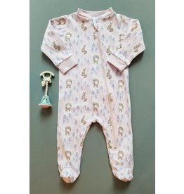 Feather Baby | Zipper Footed Romper in Foxy
