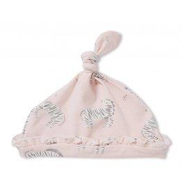 Angel Dear Angel Dear | Pink Zebra Knot Hat