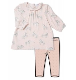 Angel Dear Angel Dear | Pink Zebra Dress & Legging Set