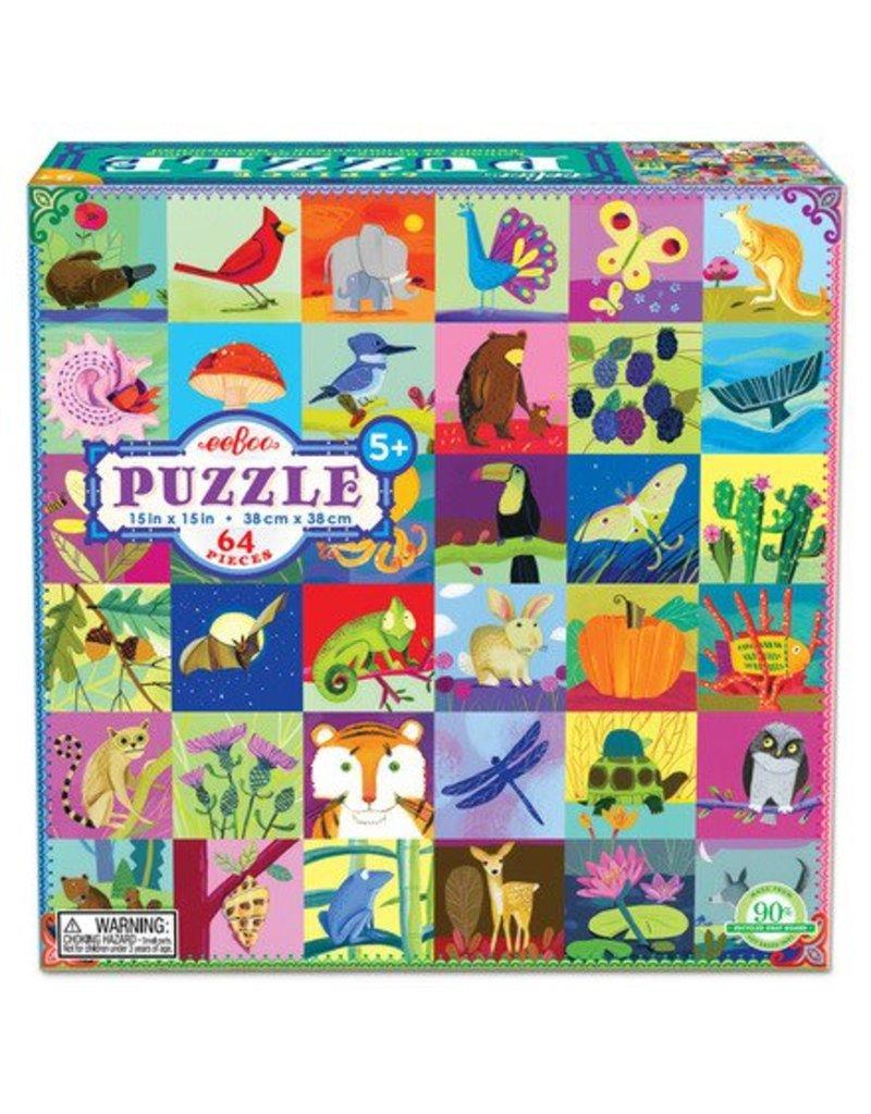 eeBoo Eeboo   Portraits in Nature 64 piece Puzzle