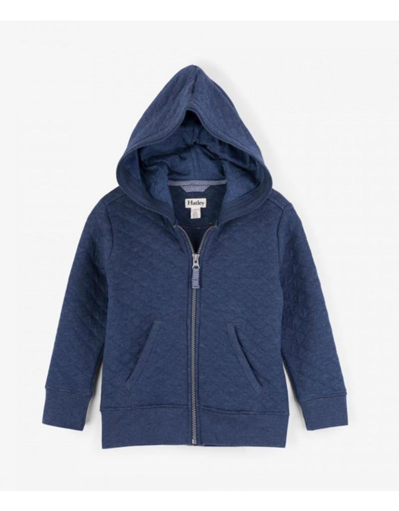 Hatley Navy Quilted Hoodie