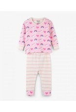 Hatley Organic Unicorn & Rainbows Baby Pajama Set