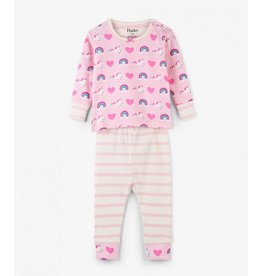 Hatley Organic Unicorn & Rainbows Baby Pajama Set