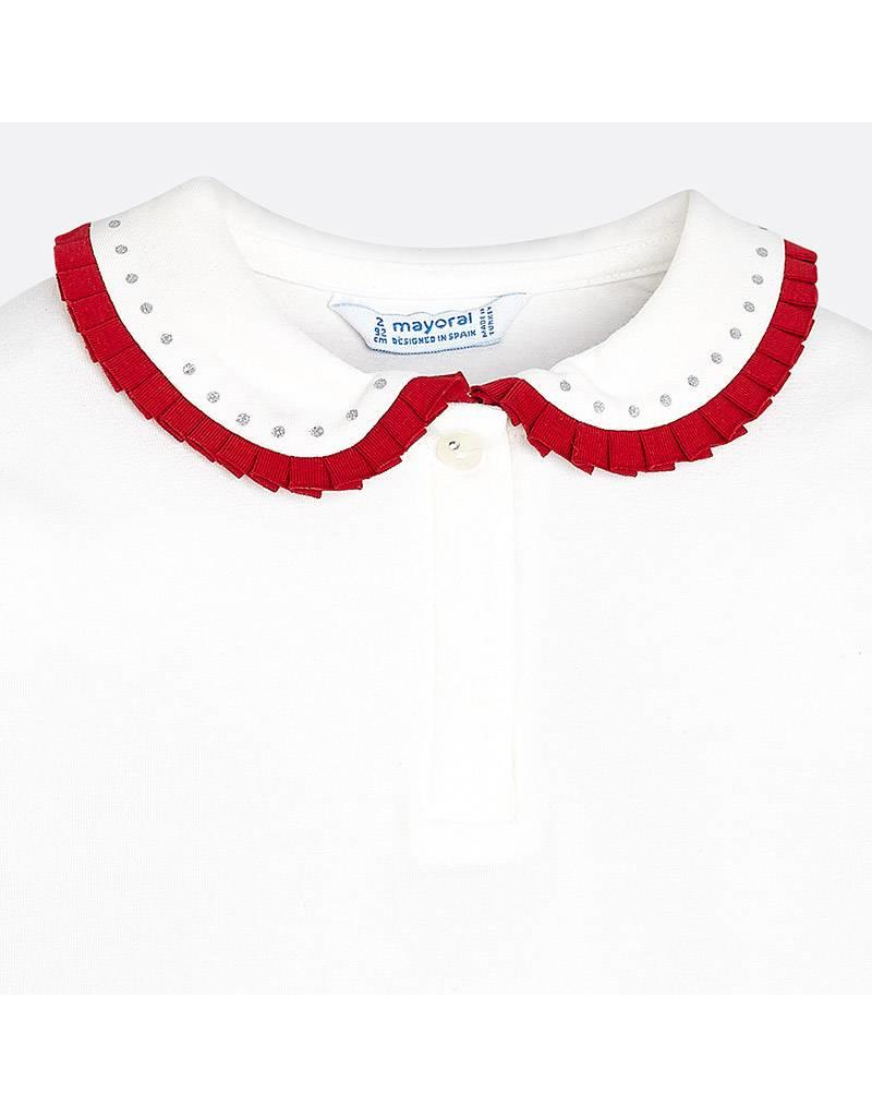 Mayoral Mayoral | Contrast Ruffle Collar Polo Shirt