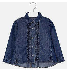 Mayoral Mayoral | Pleated Denim Blouse