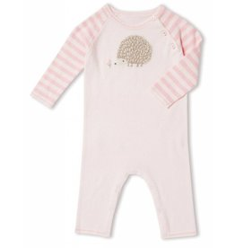 Angel Dear Angel Dear | Pink Hedgehog Intarsia Coverall