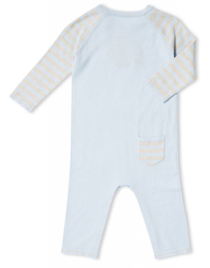 Angel Dear Angel Dear | Blue Hedgehog Intarsia Coverall