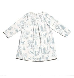 Winter Water Factory Winter Water Factory | Aspen Baby Dress in Winter Blue