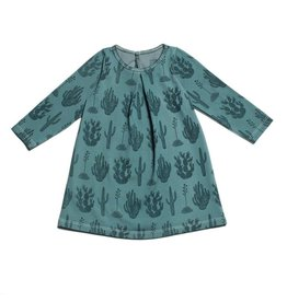 Winter Water Factory Winter Water Factory | Aspen Baby Dress in Teal Cactus