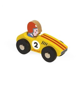 Janod Janod Wooden Racer | Yellow