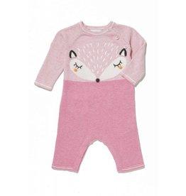 Angel Dear Angel Dear | Pink Fox Intarsia Coverall
