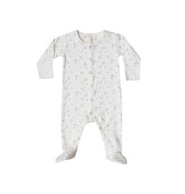 Quincy Mae Quincy Mae | Snap Footie in Ivory Stars