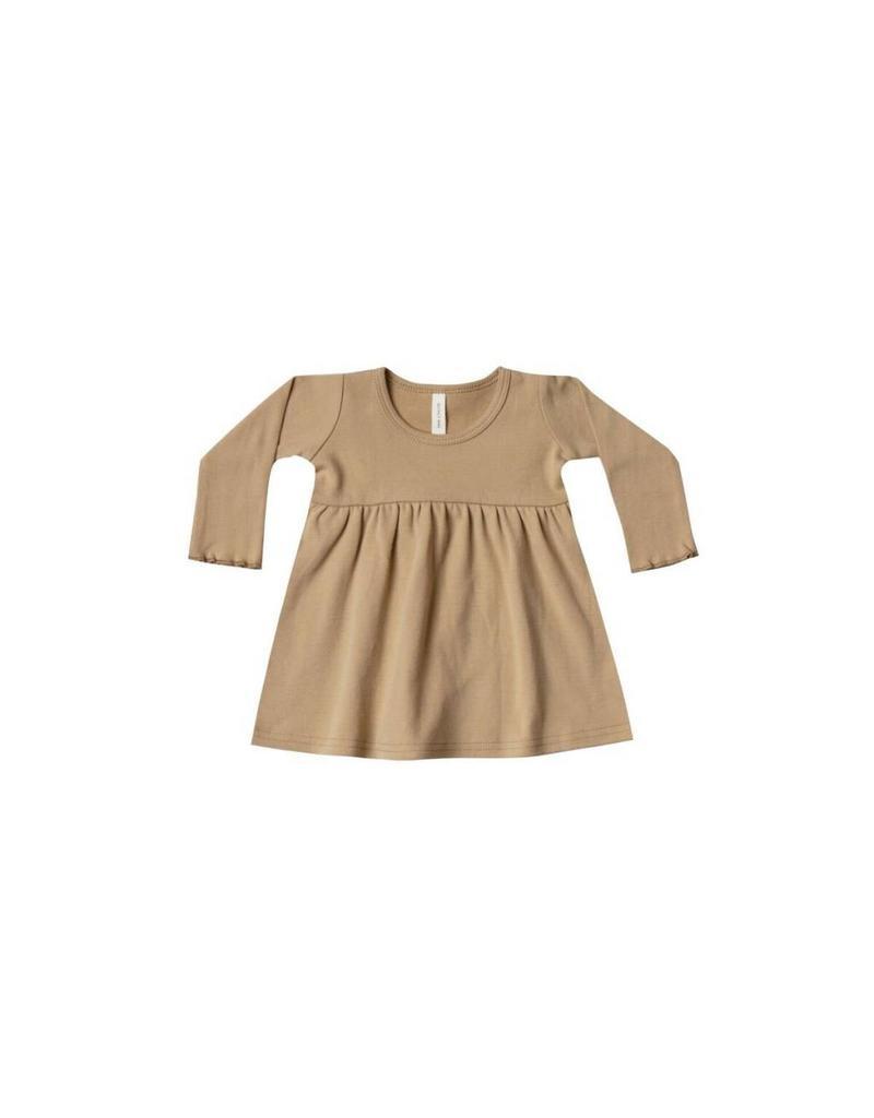 Quincy Mae Quincy Mae | Long Sleeve Baby Dress in Honey
