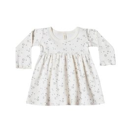 Quincy Mae Quincy Mae | Long Sleeve Baby Dress in Ivory Stars