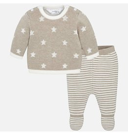 Mayoral Mayoral | Stars Knit Top & Footed Pant Set