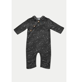 Feather Baby | Rockets to the Moon Fleece Romper