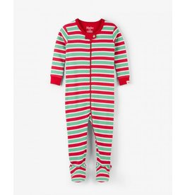 Hatley Hatley | Holiday Stripe Footed Coverall