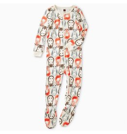 Tea Collection Tea Collection | Woodland Nesting Dolls Footed Pajamas