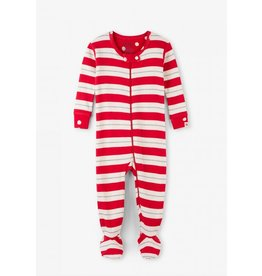Hatley Hatley | Metallic Stripe Footed Coverall