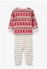 Hatley Hatley | Fair Isle Fawn Baby Pajama Set