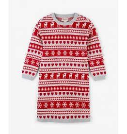 Hatley Hatley |Fair Isle Deer Sweater Dress