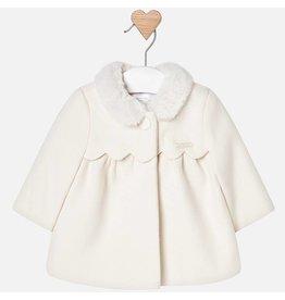 Mayoral Mayoral | Scalloped Yoke Baby Coat