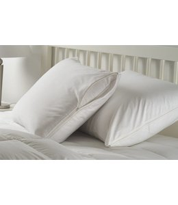W-Home 200 Thread Count Cotton Zippered Pillow Protectors (Pair)