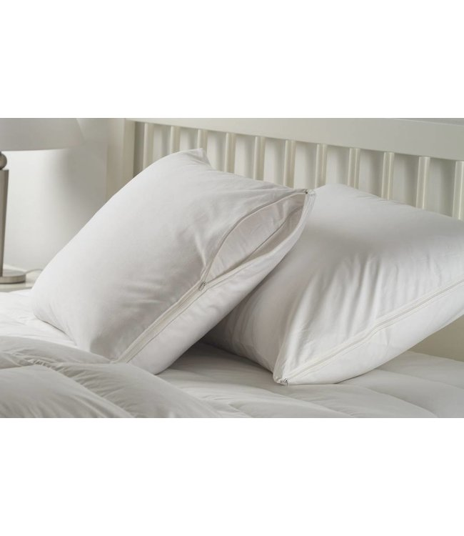 W-Home 200Thread Count Cotton Zippered Pillow Protectors (pair)