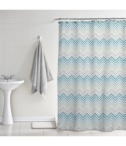 Lauren Taylor Chevron PEVA shower curtain - Spa Aqua
