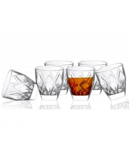 Lauren Taylor 8 Oz Old fashioned Glass Ware Set of 6