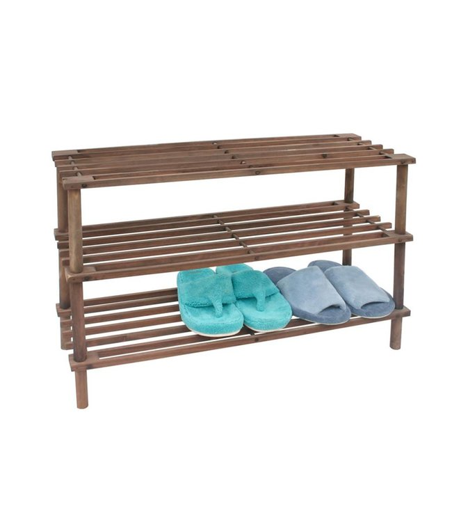 Maison Condelle 3-Tier Stackable Wood Shoe Rack