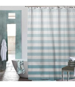 Adrien Lewis Chiara Ombre Stripe Shower Curtain - Spa Aqua