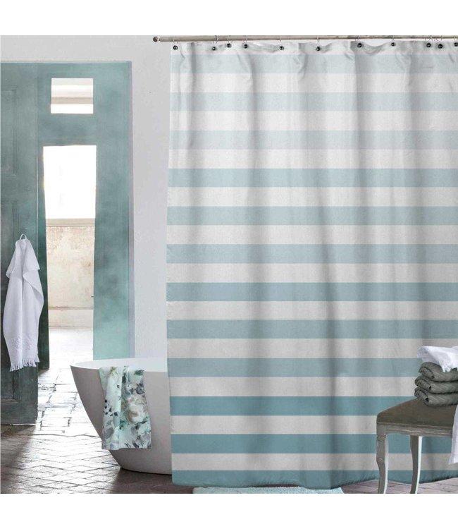 Adrien Lewis Chiara Ombre Stripe Shower Curtain - Spa Aqua