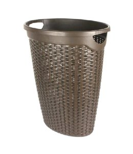 Studio 707 LAUNDRY HAMPER W/RATTAN PATTERN