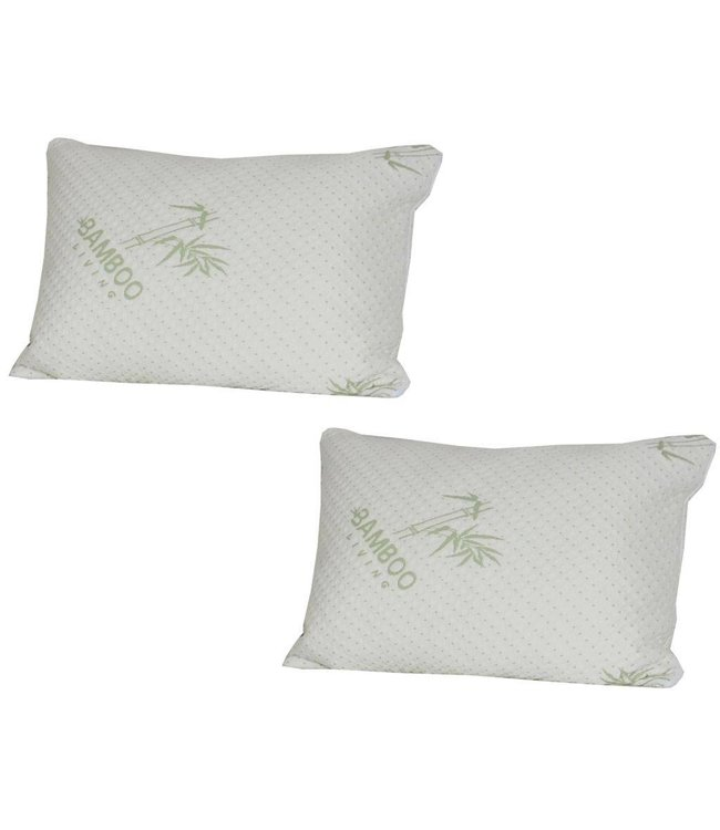 Maison Blanche Breathable Bamboo Pillow Protectors - Pack of 2