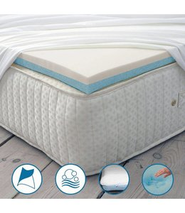 Maison Blanche Gel-Infused Memory Foam Mattress Topper