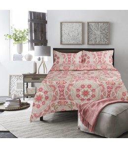 Adrien Lewis Medallion 3 piece Comforter Set