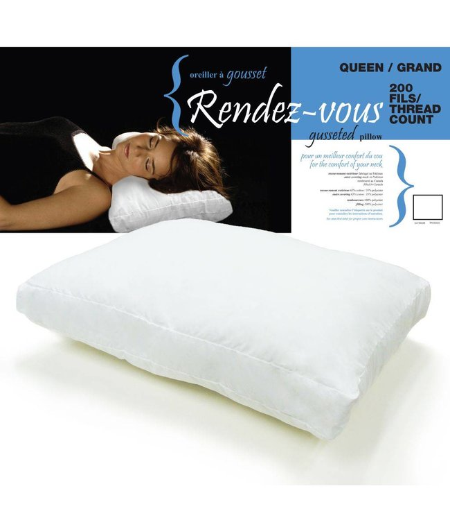 Lauren Taylor 200TC Rendez-Vous Gussetted Fiber Pillow