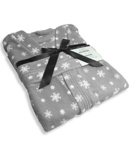 Studio 707 Snowflake Micro-Fleece Bath robe