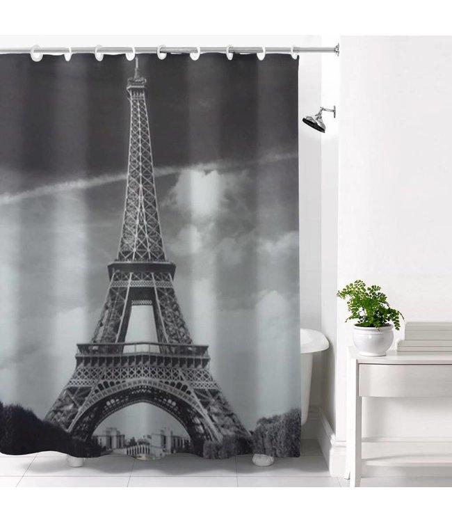 Adrien Lewis Eiffel Tower Hookless Shower Curtain