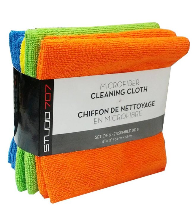 Studio 707 Utility 8 Pack Microfiber Cleaning Cloths